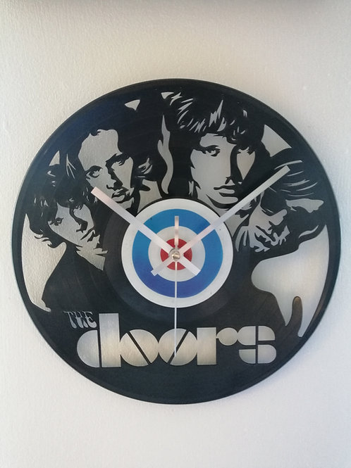 The Doors Carved Viny lClock