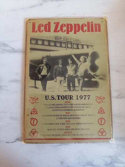 Led Zepplin Tin Sign