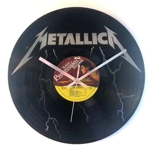 Metallica Cut Vinyl Clock