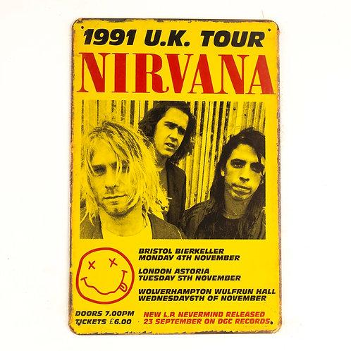 Nirvana Tin Sign
