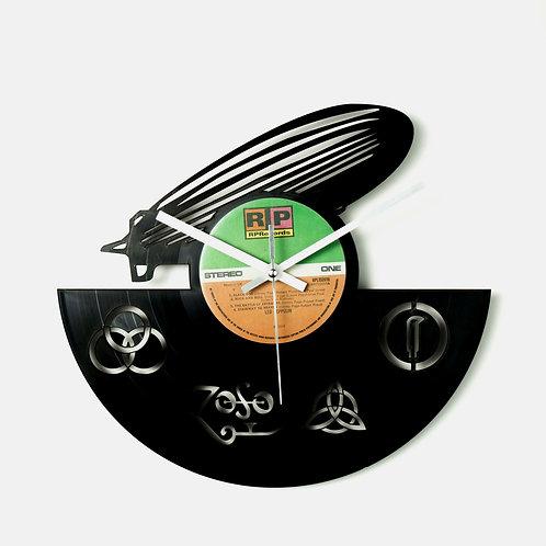 Led Zepplin Logo Cut Vinyl Clock