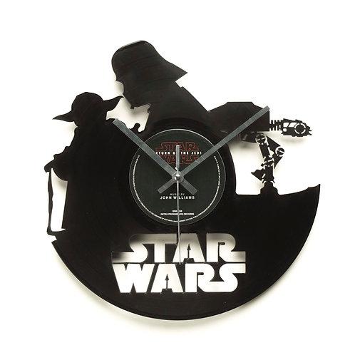 Star Wars - Silhouette Cut Vinyl Clock