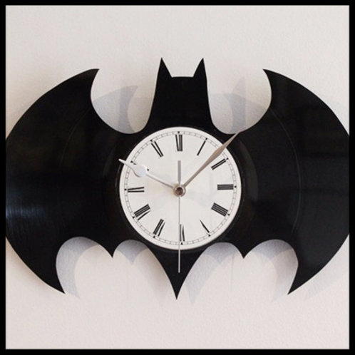 Batman Logo Cut Vinyl Clock