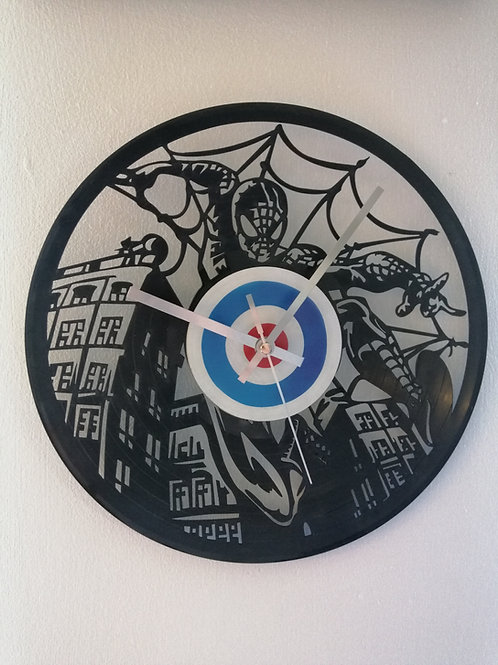 Spiderman Carved Vinyl Clock