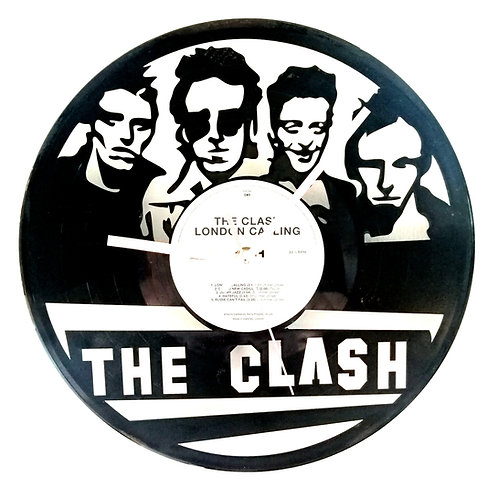 The Clash Carved Vinyl Clock