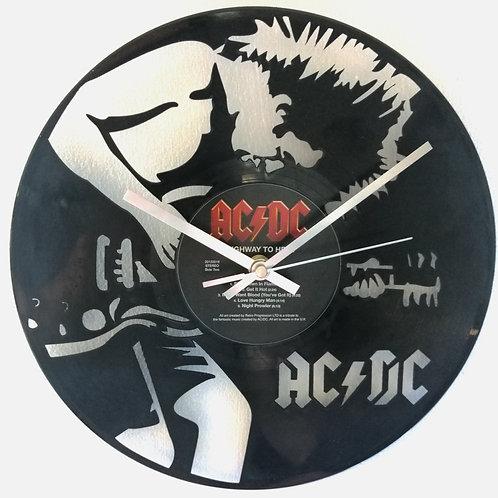AC/DC Carved Vinyl Clock