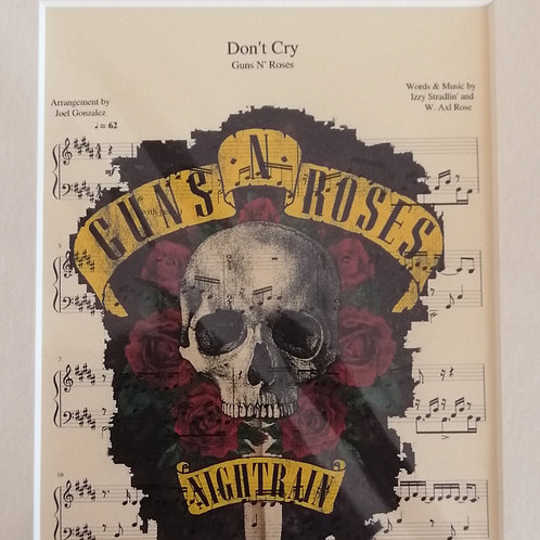 Guns N' Roses Sheet Music Print