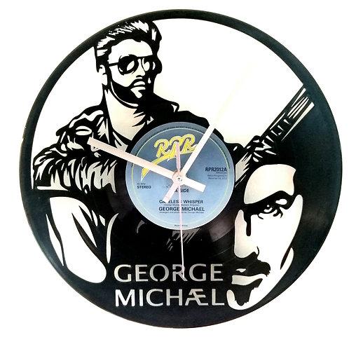 George Michael Carved Vinyl Clock