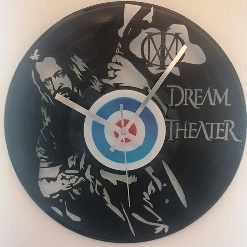 Dream Theatre Carved Vinyl Clock