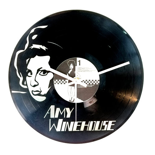 Amy Winehouse Cut Vinyl Clock