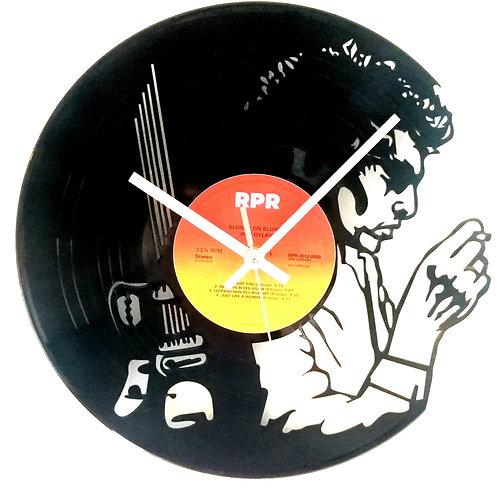 Bob Dylan Cut Vinyl Clock