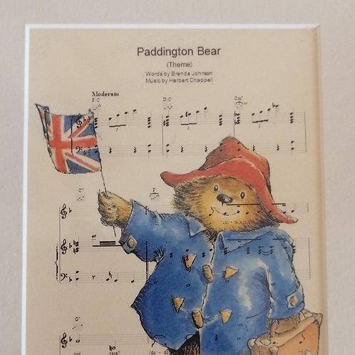 Paddington Bear Sheet Music Print