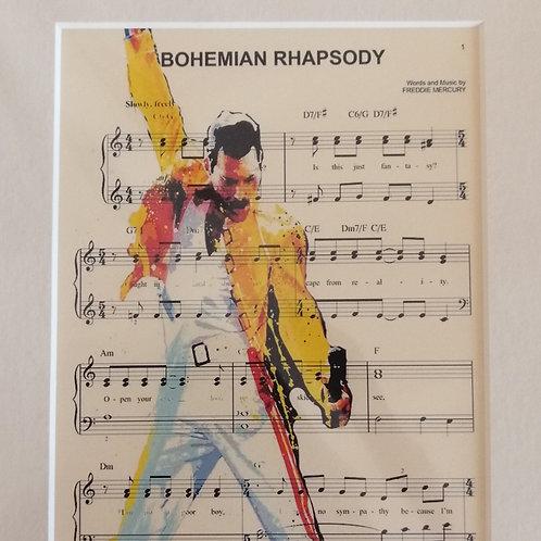 Freddy Mercury Music Sheet Print