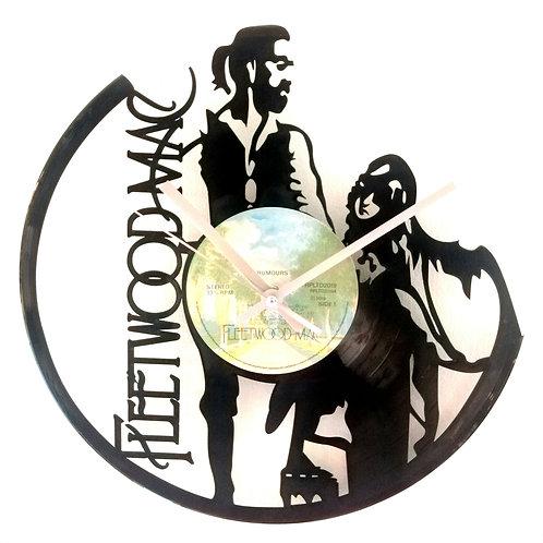Fleetwood Mac Carved Record Clock