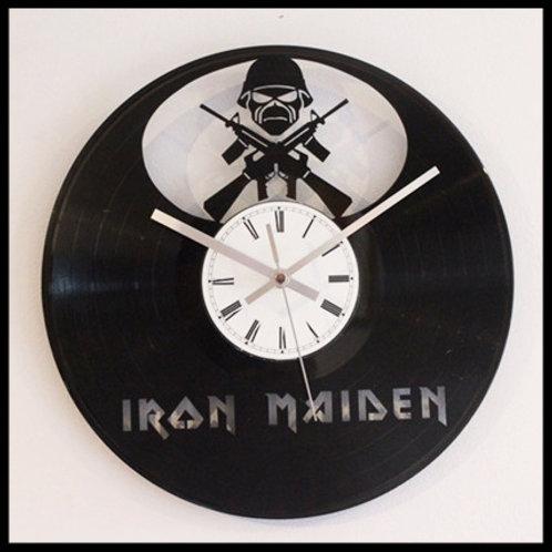 "Iron Maiden ""Matter of Life and Death"" Cut Vinyl Clock"