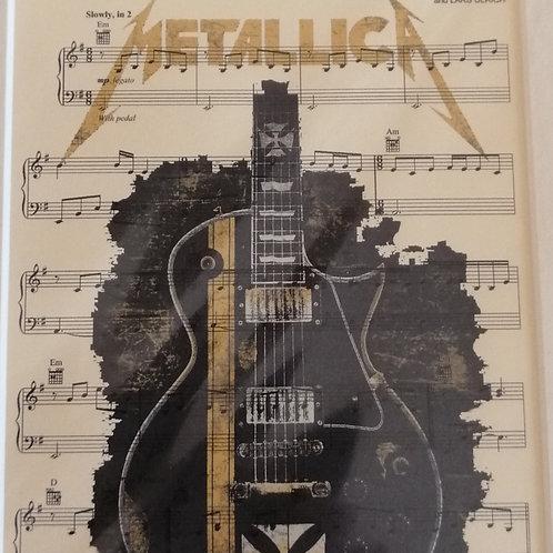 Metallica Sheet Music Print