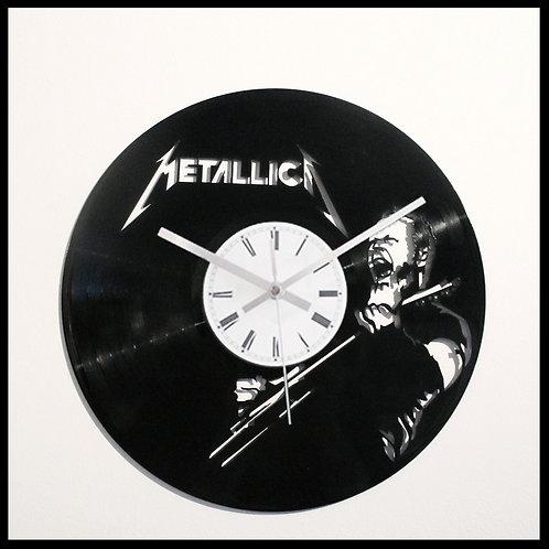Metallica James Hetfield Cut Vinyl Clock