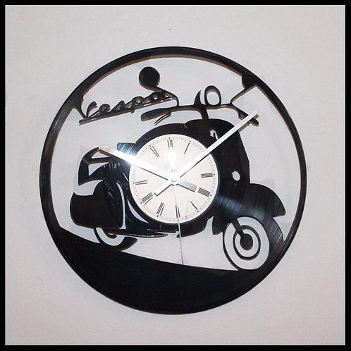 Vespa Cut Vinyl Clock