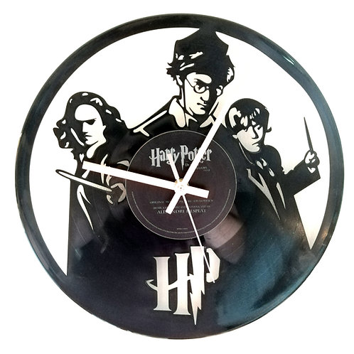 Harry Potter Carved Record Clock