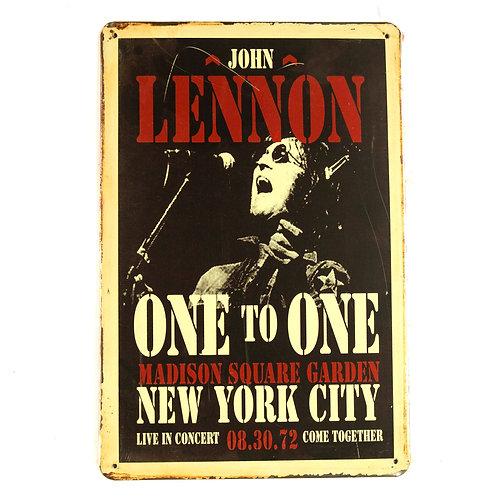 John Lennon Tin Sign