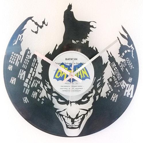 Batman Joker Cut Vinyl Clock