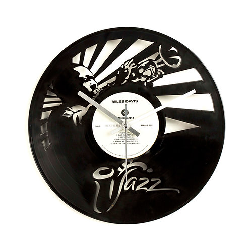 Miles Davis Carved Vinyl Clock