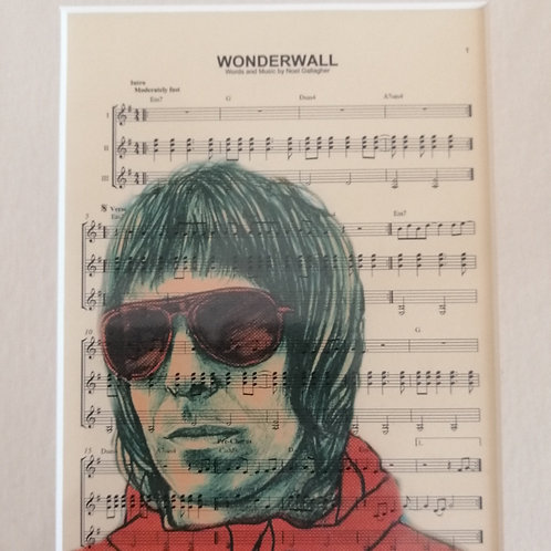 Oasis Sheet Music Print