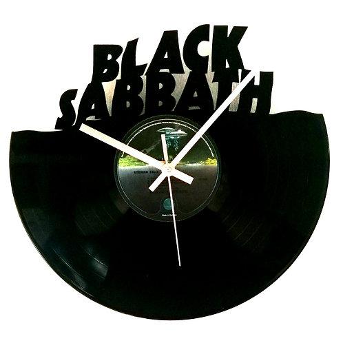 Black Sabbath Carved Record Clock