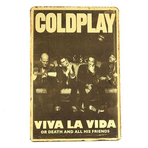 Coldplay Tin Sign