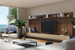 diseños modernos de muebles de tv