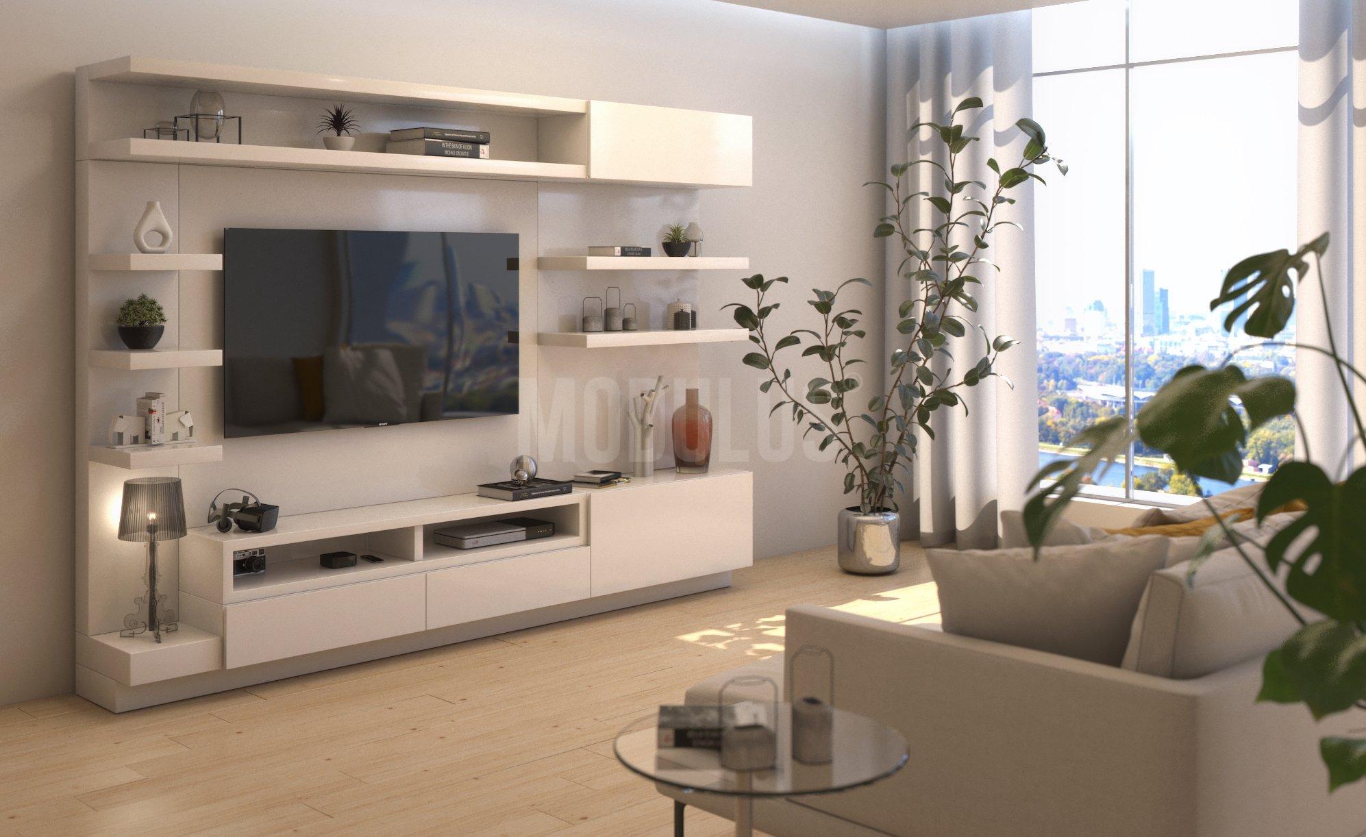 modulus muebles de dise o contemporaneo wall unit living On diseno de muebles para living comedor