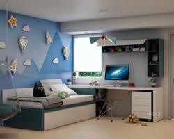 cama integrada a escritorio