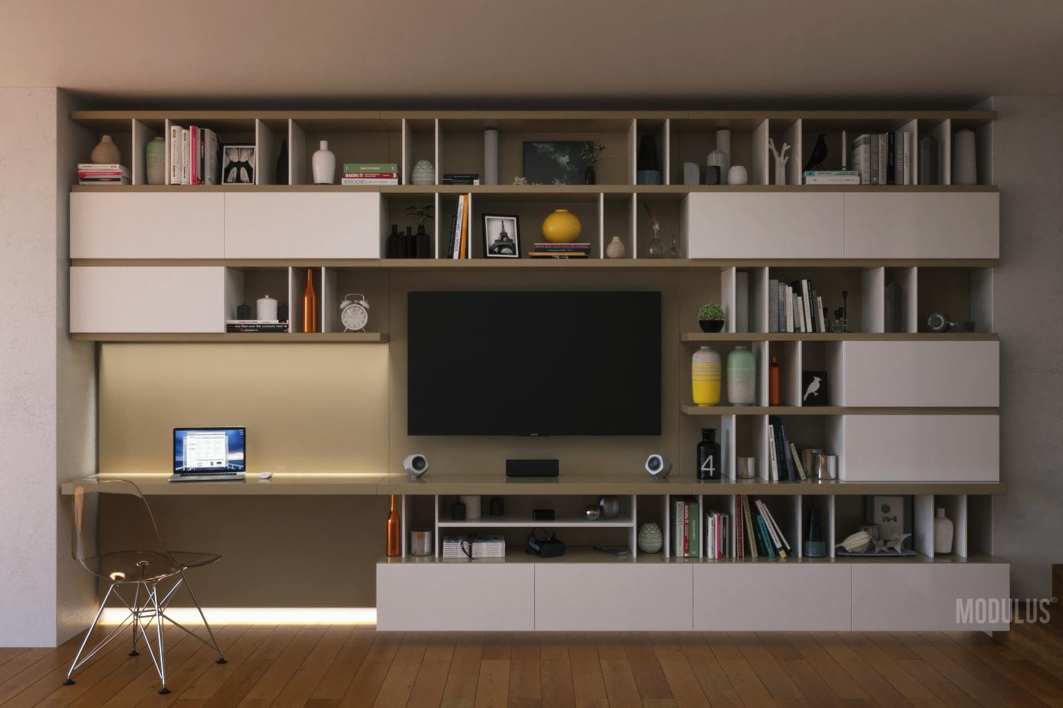mueble con escritorio