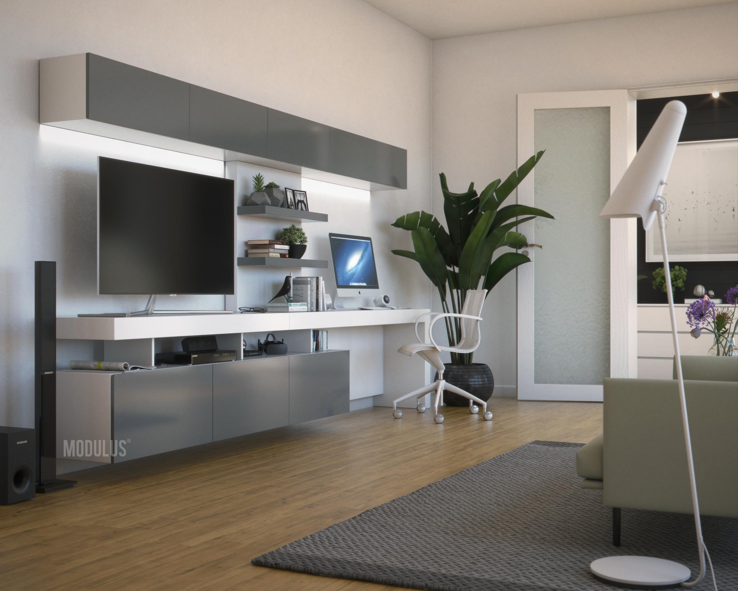 muebles de diseño con escritorios