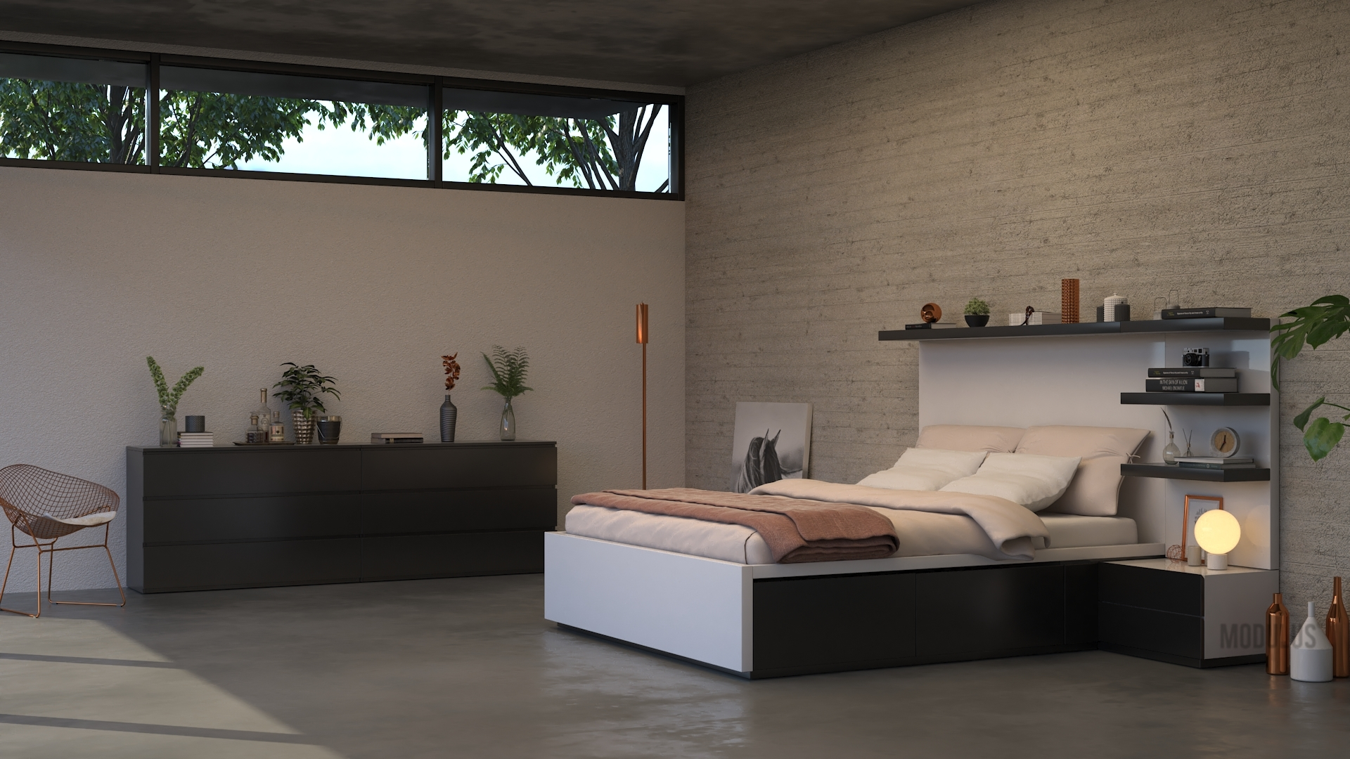 dormitorio contemporaneo