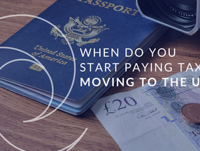 Moving to the UK - when do you pay tax?