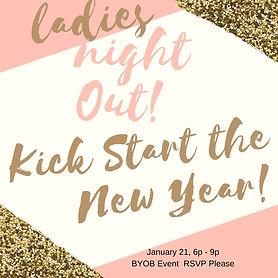 Pink Gold Bachelorette Party - Invitatio