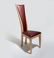 High Back Chair in Ash & Leather