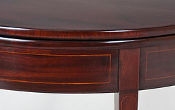 Restored Rosewood Demi-Lune Card Table