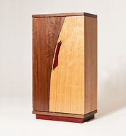 Watch Cabinet with Automatic Winders in Cherry & Black Walnut