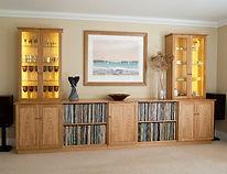 Media (Vinyl) and Display Cabinet in European Oak