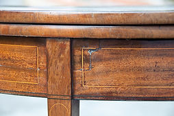 Rosewood Demi-Lune Card Table before restoration