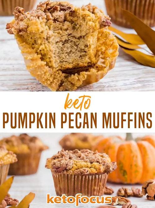 Keto Pumpkin Pecan Muffins