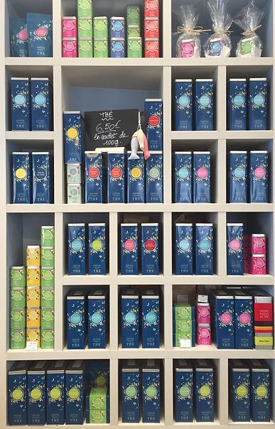 Large choix de thé Comptoir Français du thé sur place ou à emporter Dame Gourmande Granville à tout heure