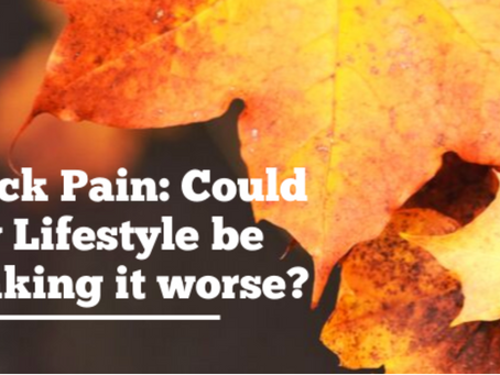 Neck Pain: Could my lifestyle be making it worse?
