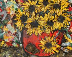 Grungy Sunflowers
