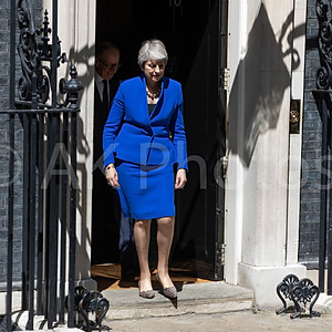 Theresa May last day in Downing Street