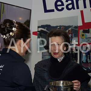 HRH The Princess Royal & Sir Geoff Hurst at the London Boat Show Excel