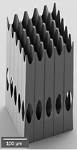 Lens array for x ray free electron laser
