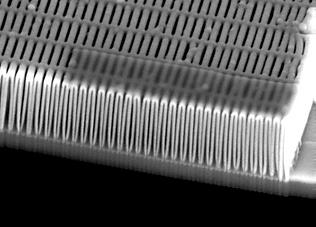 Line doubled iridium fresnel zone plate